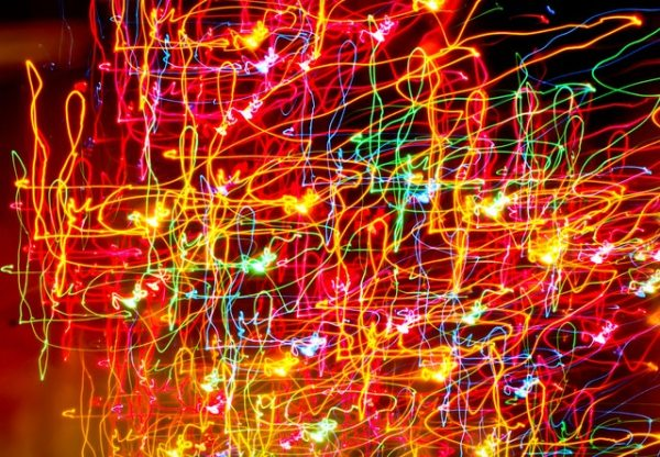 colorful electric lights